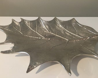 Silver Leaf Tray, home decor, nature