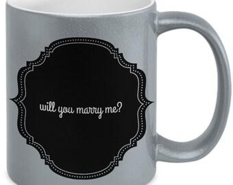 Will You Marry Me Mug in Metallics