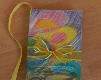 Delightful Abstract Sketch Book or Journal in Spring Colors