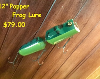"""FISHING LURE, Large Wooden Wall Decor 12"""""""