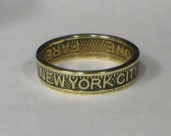 Sealed New  York City  Subway  Token Coin Ring  Size  4-10