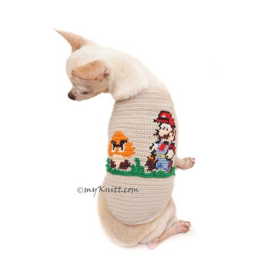 Mario Bros häkeln Hundepullover Mario Bros Cross Stitch