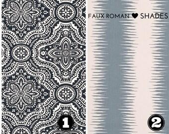 Faux False Roman Shade - Fake Roman Shade -  Top Treatment - Stationary Valance - Mock Roman, Nursery Shade - Choose Size - Easy to Install