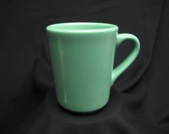 Vintage Restaurant Mint Green Homer Laughlin Coffee Mug Tea Cup Made In USA Retro Marked HLC USA