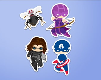 Team Captain America Stickers