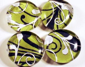 Glass Marble Fridge  Magnets Kitchen Magnet Set in Rain Forest (M60)
