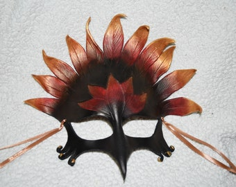 Fiery Gryphon/phoenix leather mask - this one available now