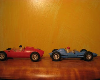 Vintage Marx Formula 1 Friction Race Cars