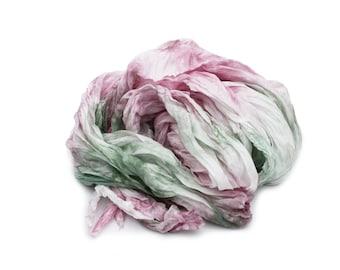 mint silk scarf - Dusty rose -  mint, pink, dusty pink, green silk scarf.