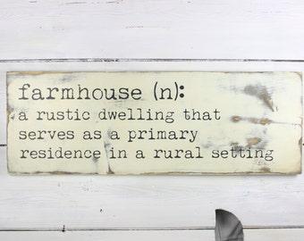 Farmhouse Sign - Farmhouse Definition Sign - Definition Sign - Rustic Sign - Rustic Decor - Farmhouse Decor
