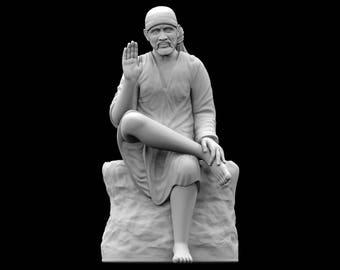 STL File of Saibaba Idol for 3D Printing