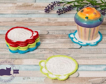Crochet Paw Coasters Pattern, Tutorial Pattern, Easy Crochet Pattern, Doily Coasters Pattern, DIY Coasters, Instant Download /5020/