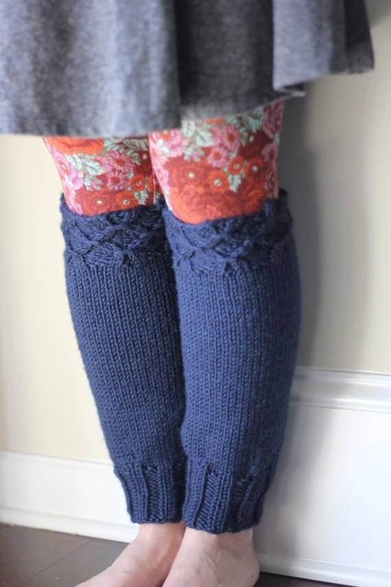 KNITTING PATTERN PDF- Leg warmer pattern, knit leg warmers, smocked ...