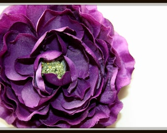 Dry Look Ruffle Ranunculus in Purple - 4 inches - Artificial Flower - ITEM 0671