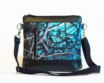 Muddy Girl Serenity Crossbody Bag - Moonshine Serenity Camo Crossbody Purse  - Cross Body bag - Camo purse  - Cute purse