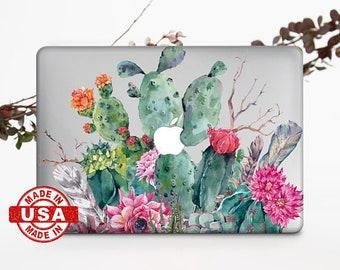 Cactus MacBook Air 11 Case MacBook Air 13 inch Floral Laptop Case 15 inch MacBook Pro Retina Case MacBook Pro 15 2017 MacBook Cover 696D2024