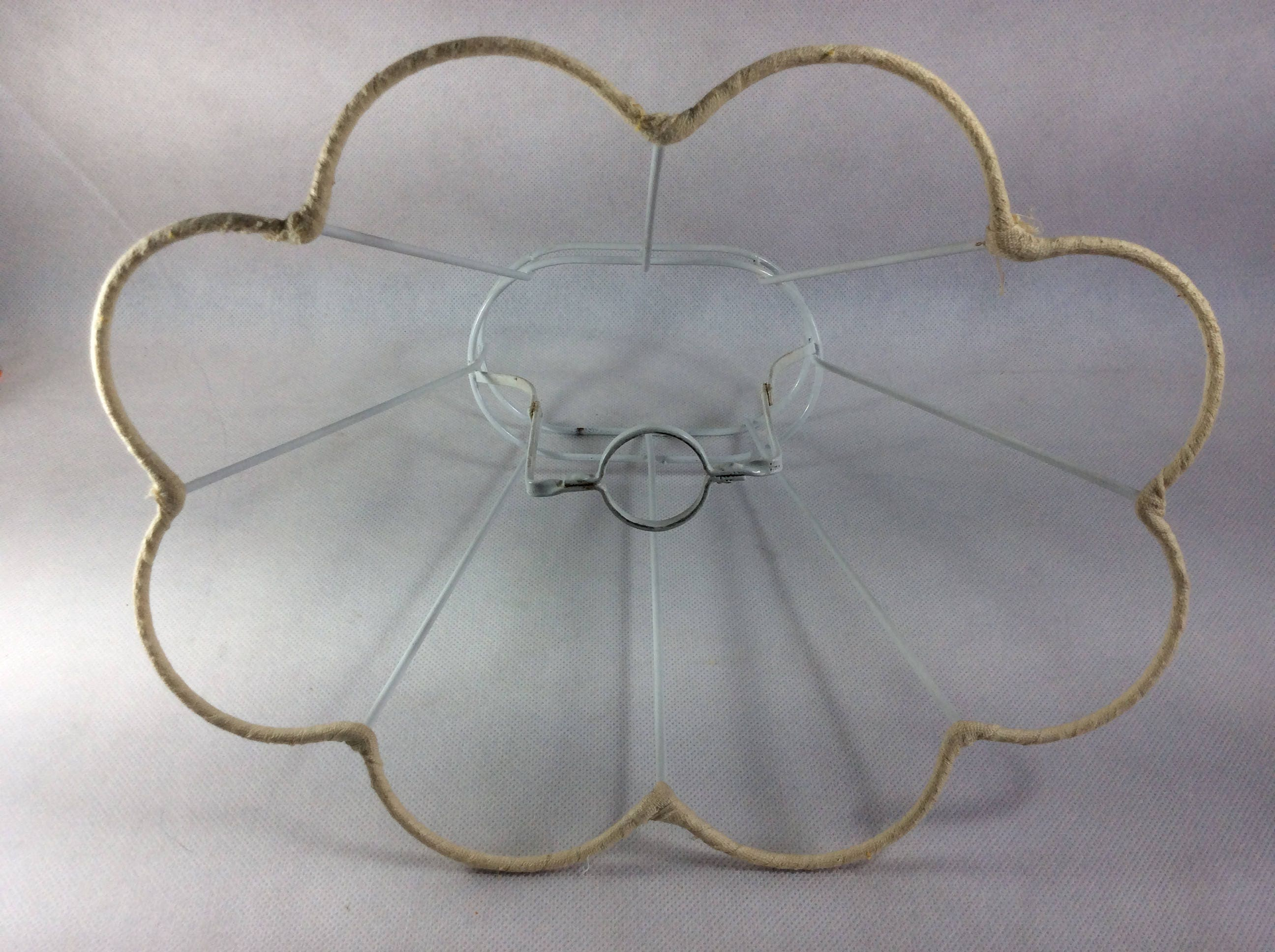Vintage lamp shade frame white wire lampshade form for making your sold by thelittleirishshop greentooth Image collections