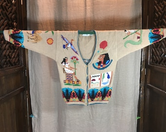 Vintage Egyptian design sweater