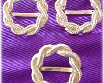 Rope Design Gold Scarf or Sash Clip (2 remaining)