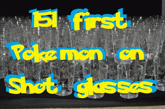 151 Pokemon shot glasses collection