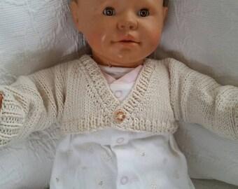 Organic cotton baby cardigan or shrug. (waldorf)