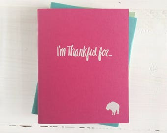 i'm thankful for pressed pocket journal with a buffalo | set of 3