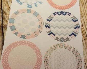 074 Mason jar lid labels