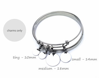 Additional Medium Charm Extra Charms Personalized Charms for Charm Bracelet Logos Bear Cubs Custom Charm Engraved Jewelry Silver Rose Gold