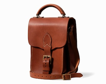Leather Messenger Cross Body Shoulder Bag