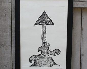 Arrow Up Print