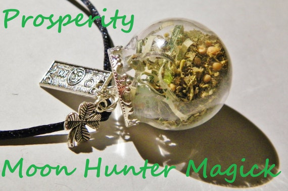 Prosperity Charm Curio Money Amulet Mini Witch Ball Witch Bottle Pagan Wicca Reiki