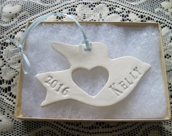 Personalized Dove  Ornament