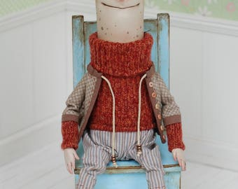 Doll made by Irina Goriunova Ooak Art Doll Sculpture Figurine Original Artist Dolls