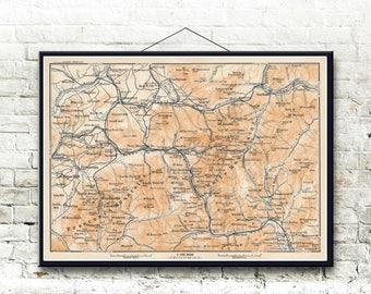 White Mountains New Hampshire 1904 Map Fine Art Print