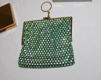 Vintage CORO All RHINESTONE Evening Bag / Purse w/ Gorgeous!