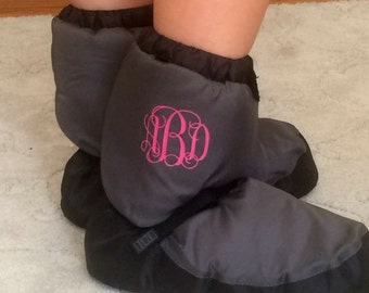 "Small (1.75""-2"") Curly Iron-On (Heat Transfer) Vinyl Three -Initial Monogram"