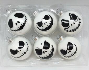 Set of 6 Jack Christmas Ornaments