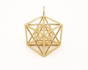 Metatron's Cube pendant - 3D Sacred Geometry - Merkaba pendant