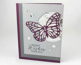 Butterfly Wedding Card - Elegant Wedding Card - Butterfly Wedding - StampinUp - Anniversary Card - Congratulations - Happy Anniversary Card