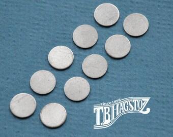 Sterling Silver Round Discs 20 Gauge - Round Discs, Round Stamping, Silver Discs, Sterling Discs