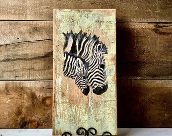 ZEBRA WALL ART - Safari Nursery - African Decor - Zebra Decor - Zebra Art - Safari Wall Art - Zebra Wall Decor - Safari Nursery Decor