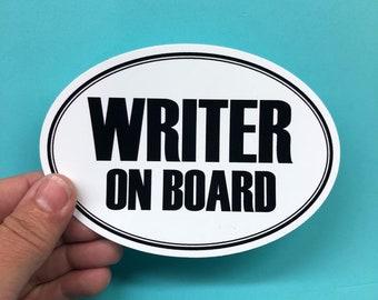 writer on board vinyl sticker
