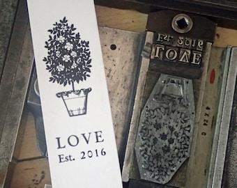 LOVE -  Bespoke Letterpress bookmark |  Marque-page letterpress personnalisable