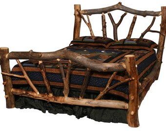 Aspen Stickley Forest Log Bed, Reclaimed Wood Bed, Colorado Aspen Log  Furniture FREE SHIPPING