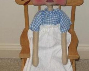 Think Spring Annie Doll Mailed Paper Pattern by Sew Practical, Mom and Pop Craft