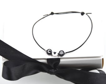 Bracelet Initial Heart