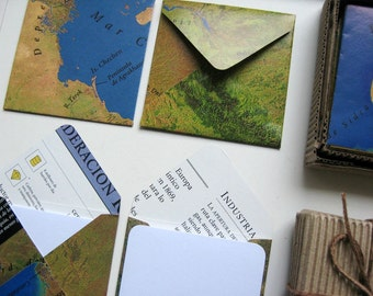 World Map Small Stationery Set