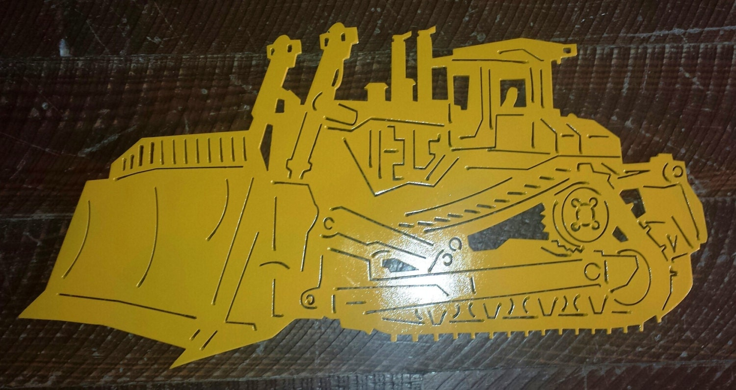 Detailed Metal Bulldozer Dozer Sign Wall Art Wall Hanging