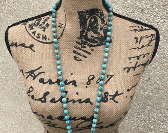 Matte Turquoise Necklace