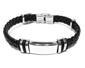 Customized steel bracelet for men